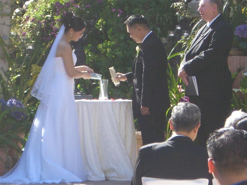 The Sand Ceremony.